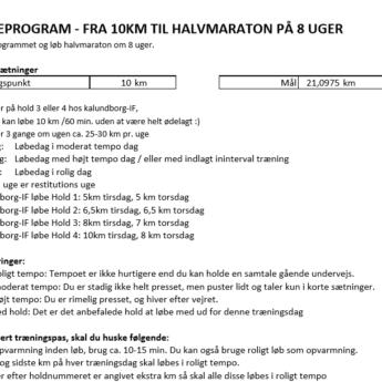 Løbeprogram 10 Halvmaraton1
