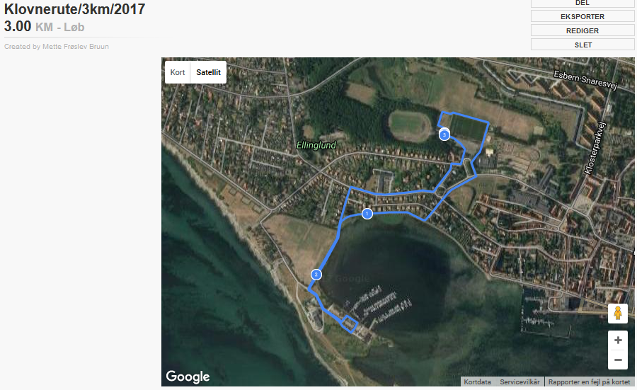 Klovneløb Rute 3 Km 2017