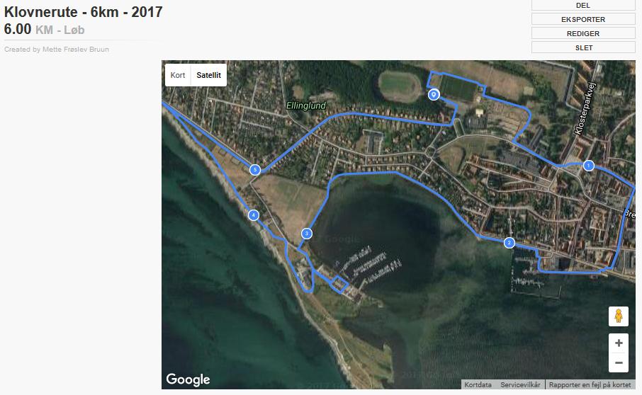 Klovneløb Rute 6 Km 2017