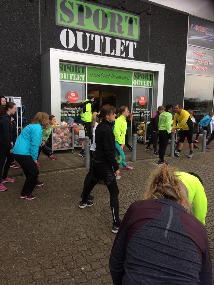 Løbetræning På Stejlhøj Med Efterfølgende Shopping Hos Intersport Outlet