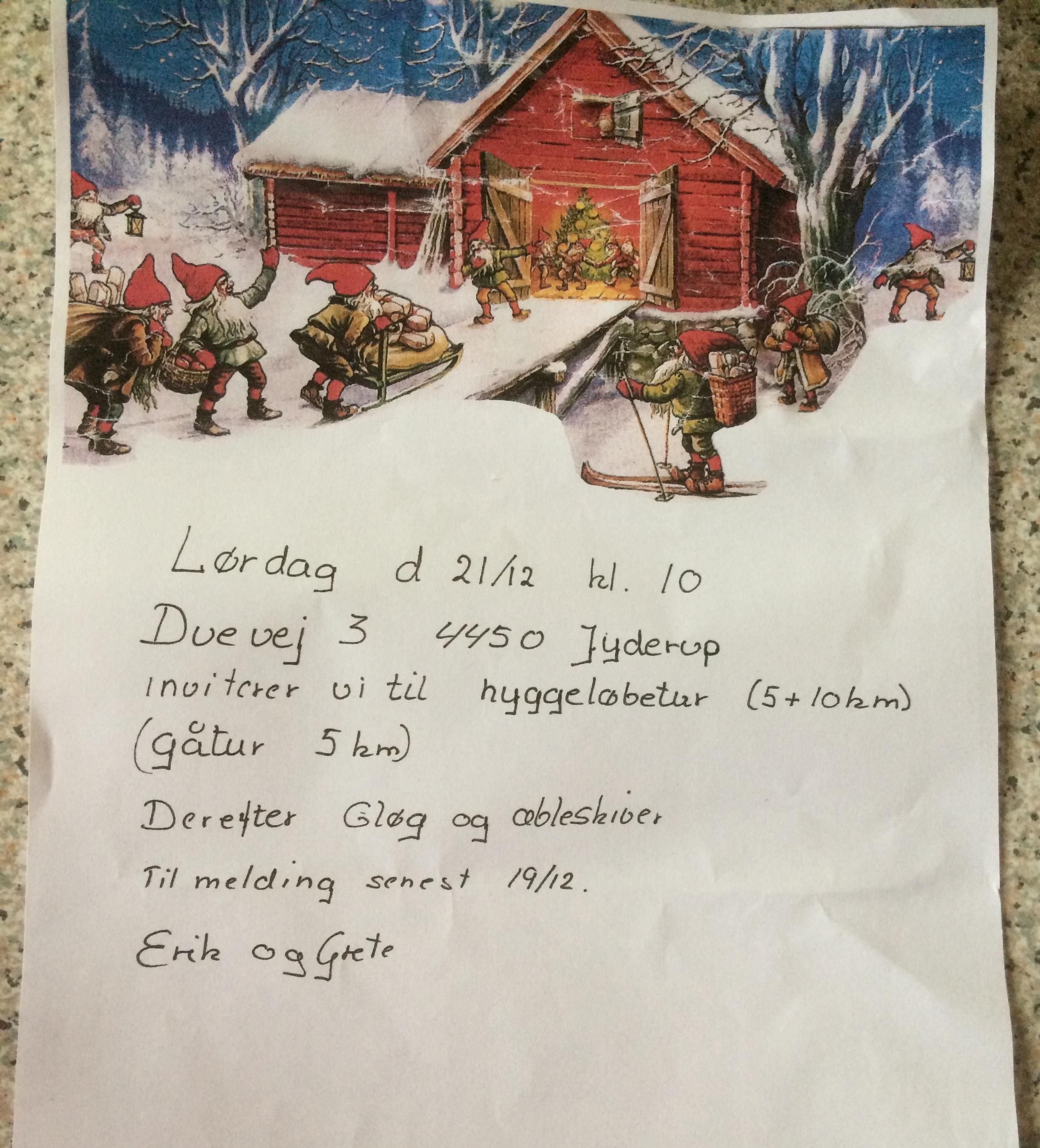 Jule-Hyggeløb I Jyderup 21-12
