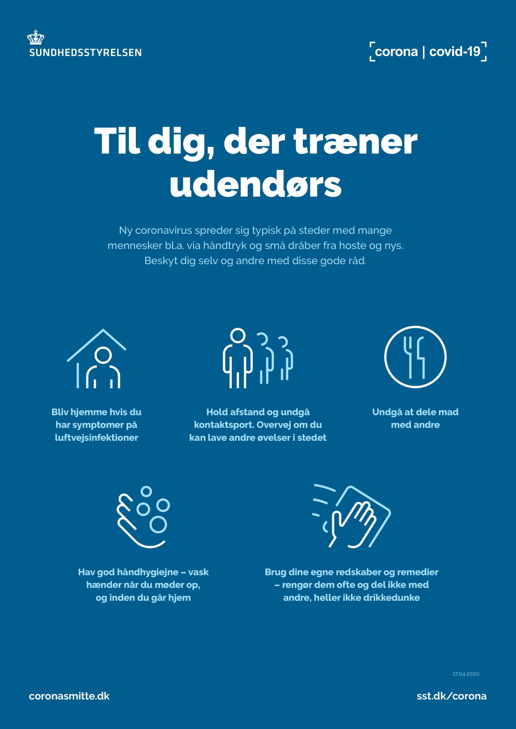 Gå/Løbe Og Fitness Står Stadig På Hjemmetræningen  Foreløbig Indtil Uge 6.